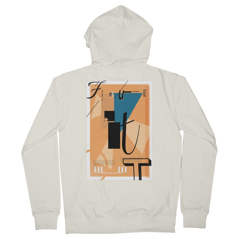 Figure it out Men's French Terry Zip-Up Hoody by The Artist Shop of Ben Stevens