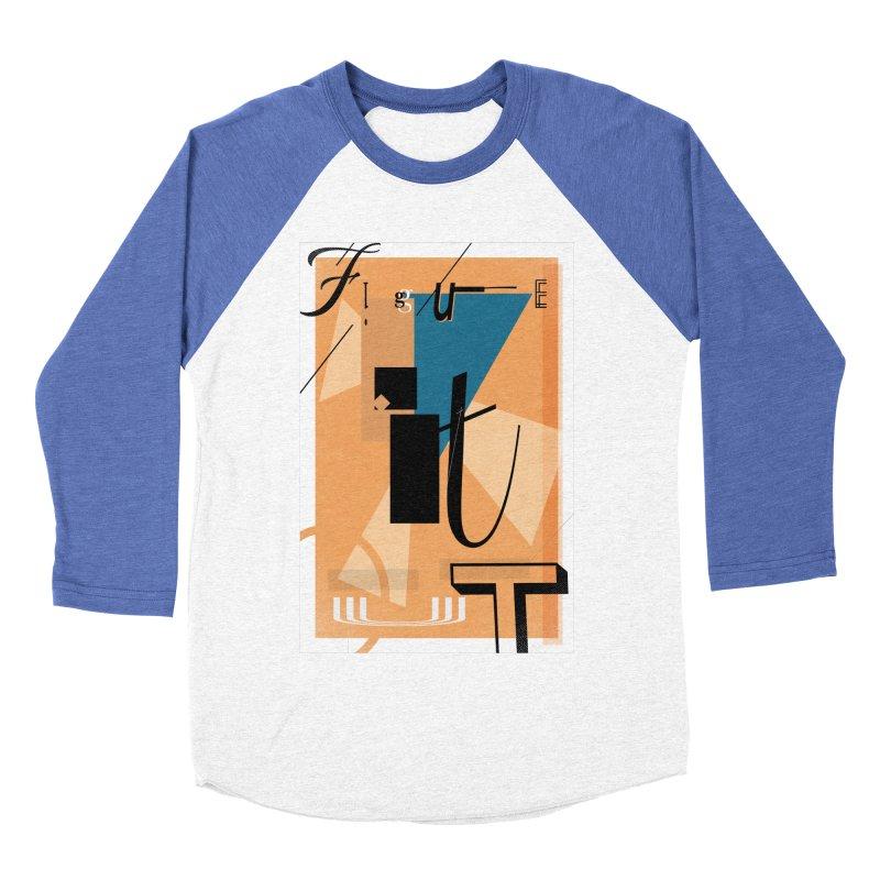 Figure it out Men's Baseball Triblend Longsleeve T-Shirt by The Artist Shop of Ben Stevens