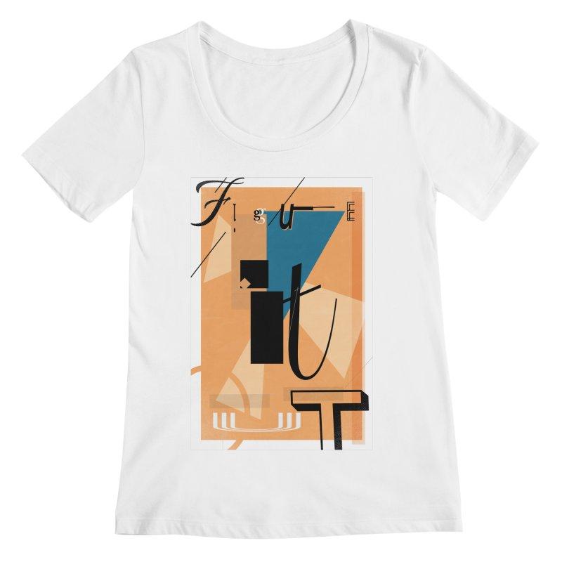 Figure it out Women's Regular Scoop Neck by The Artist Shop of Ben Stevens