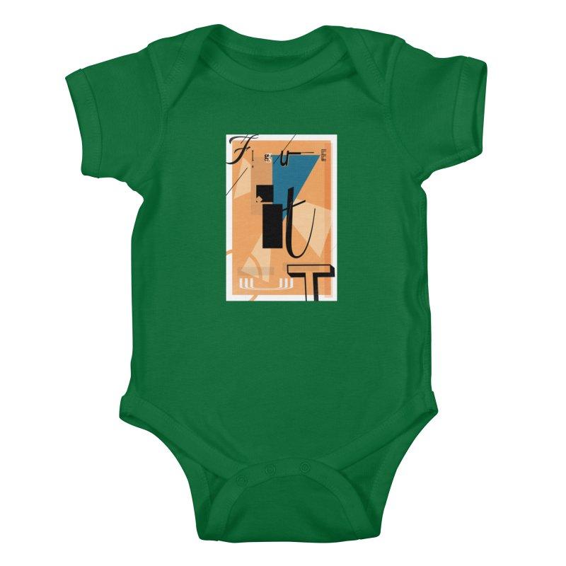 Figure it out Kids Baby Bodysuit by The Artist Shop of Ben Stevens