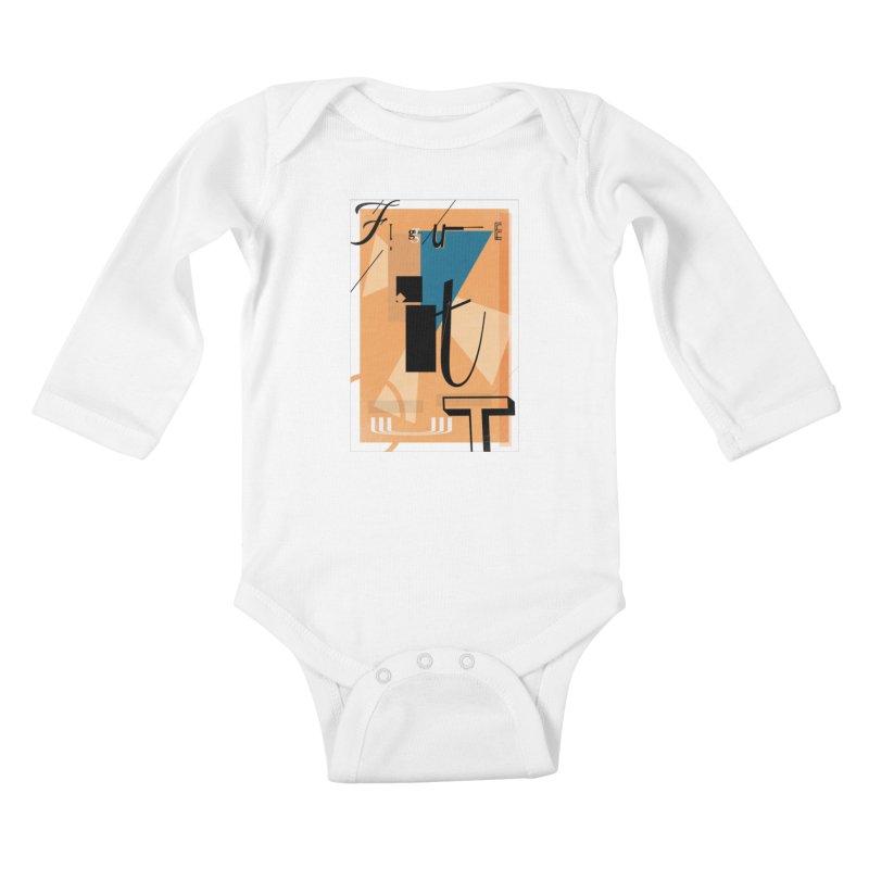 Figure it out Kids Baby Longsleeve Bodysuit by The Artist Shop of Ben Stevens