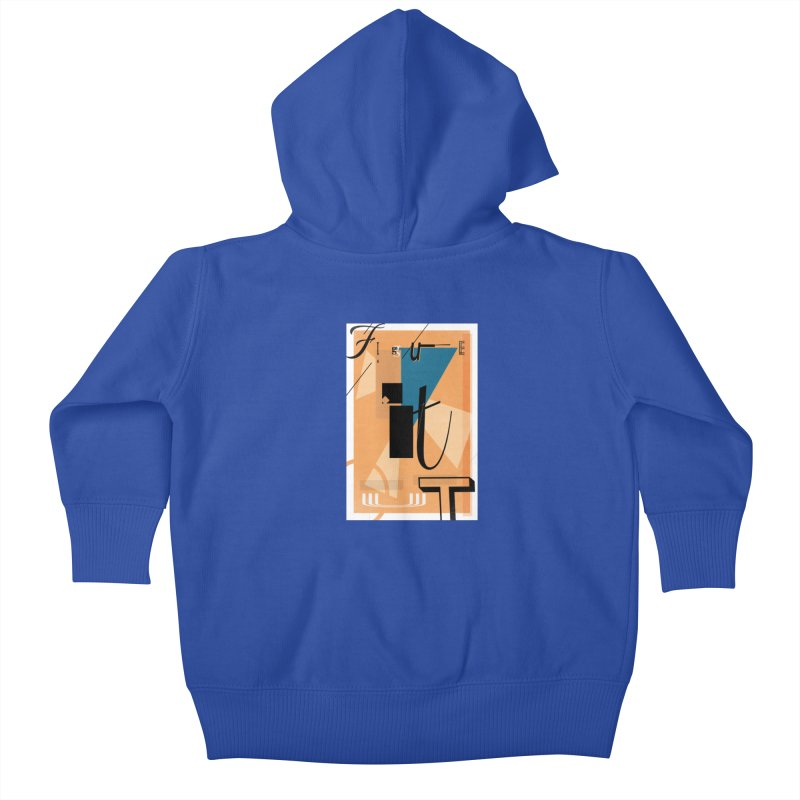 Figure it out Kids Baby Zip-Up Hoody by The Artist Shop of Ben Stevens