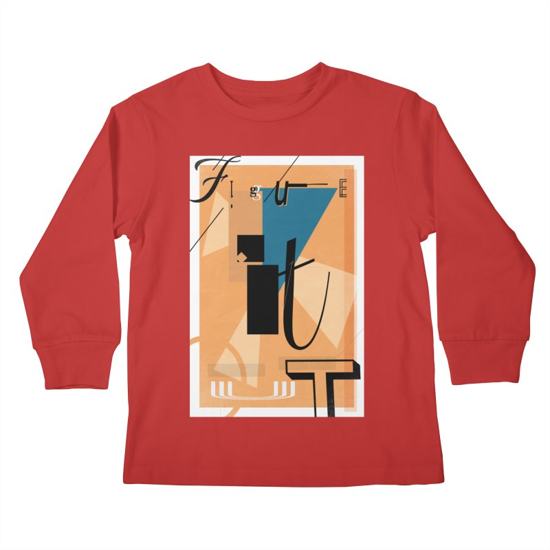 Figure it out Kids Longsleeve T-Shirt by The Artist Shop of Ben Stevens