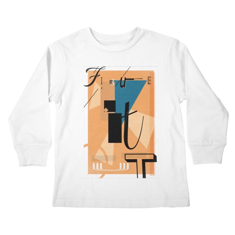 Figure it out Kids Longsleeve T-Shirt by The Artist Shop of Ben Stevens