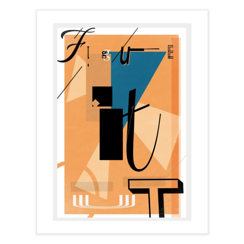 Figure it out Home Fine Art Print by The Artist Shop of Ben Stevens