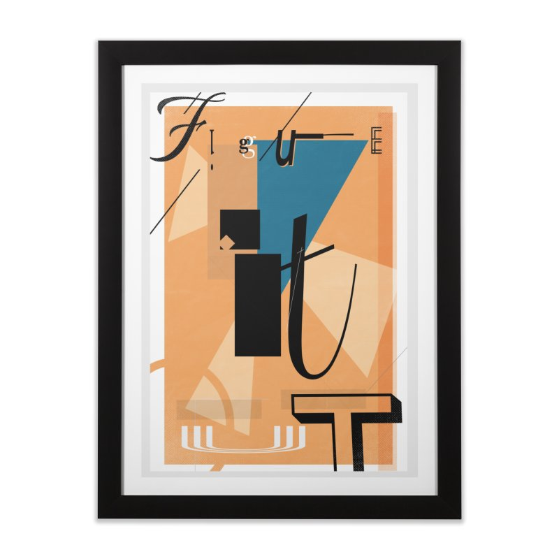 Figure it out Home Framed Fine Art Print by The Artist Shop of Ben Stevens