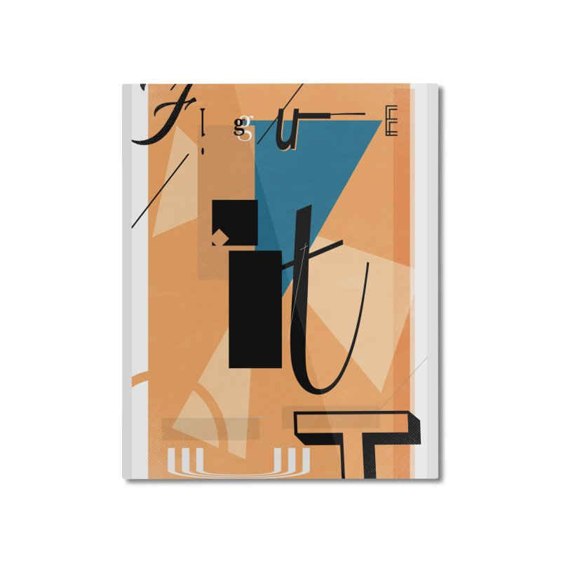 Figure it out Home Mounted Aluminum Print by The Artist Shop of Ben Stevens