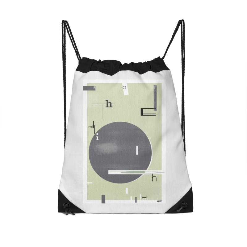 For the Millionth Time... Accessories Drawstring Bag Bag by The Artist Shop of Ben Stevens