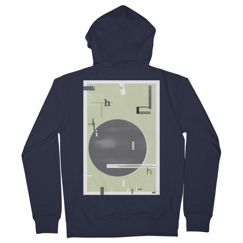 For the Millionth Time... Men's French Terry Zip-Up Hoody by The Artist Shop of Ben Stevens