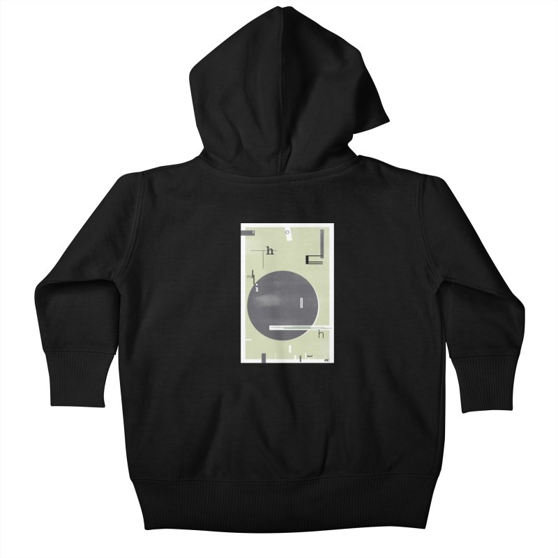 For the Millionth Time... Kids Baby Zip-Up Hoody by The Artist Shop of Ben Stevens