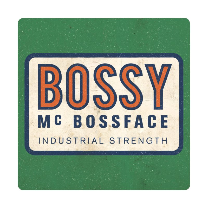 Bossy McBossface - Industrial Strength Men's Tank by The Artist Shop of Ben Stevens