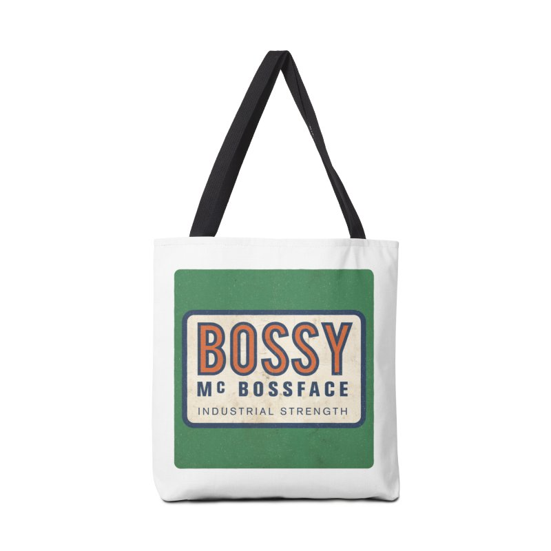 Bossy McBossface - Industrial Strength Accessories Tote Bag Bag by The Artist Shop of Ben Stevens