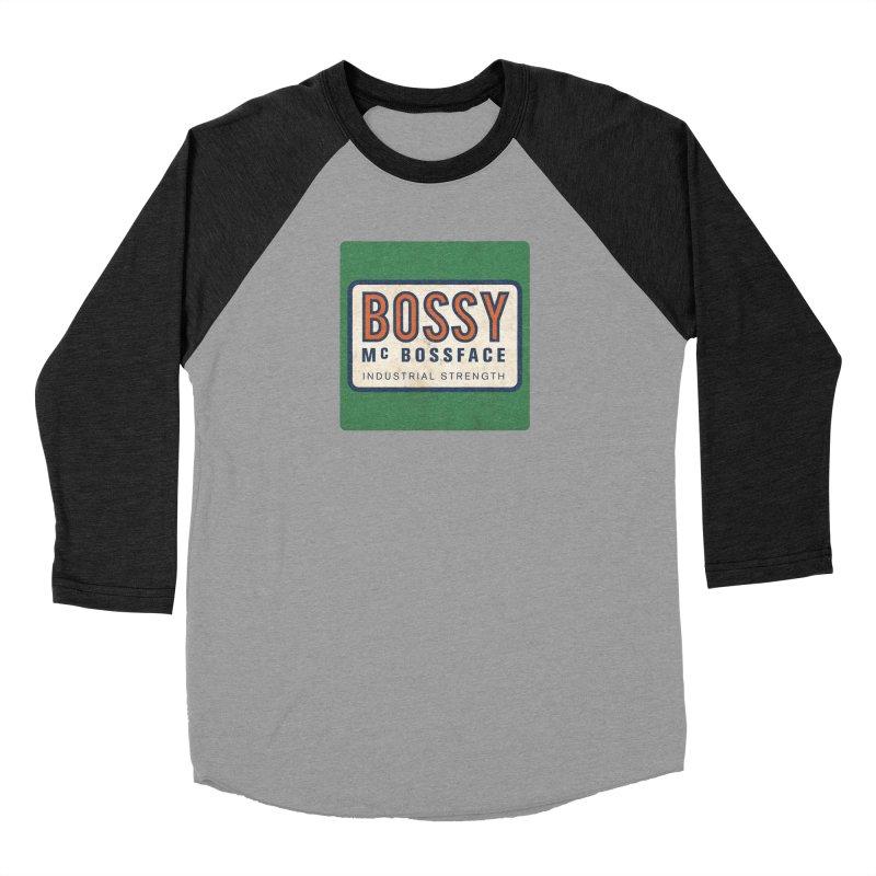 Bossy McBossface - Industrial Strength Men's Longsleeve T-Shirt by The Artist Shop of Ben Stevens
