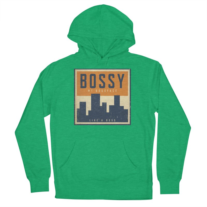 Bossy McBossface - City Boss Men's French Terry Pullover Hoody by The Artist Shop of Ben Stevens