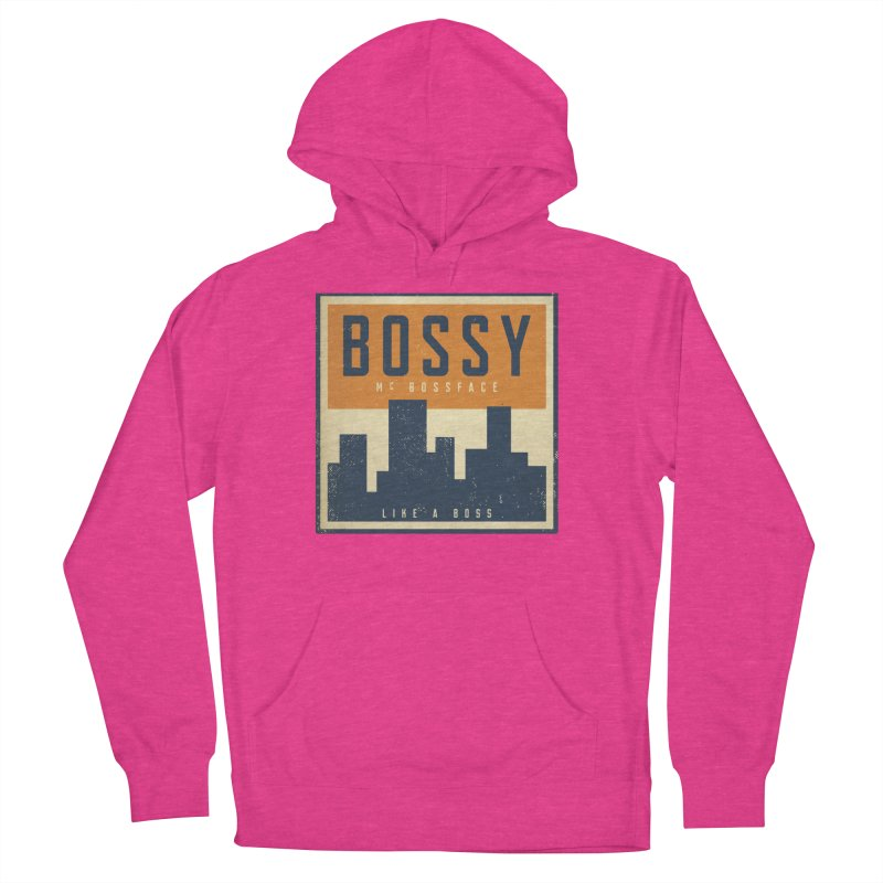 Bossy McBossface - City Boss Men's Pullover Hoody by The Artist Shop of Ben Stevens