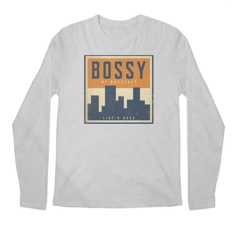 Bossy McBossface - City Boss Men's Regular Longsleeve T-Shirt by The Artist Shop of Ben Stevens