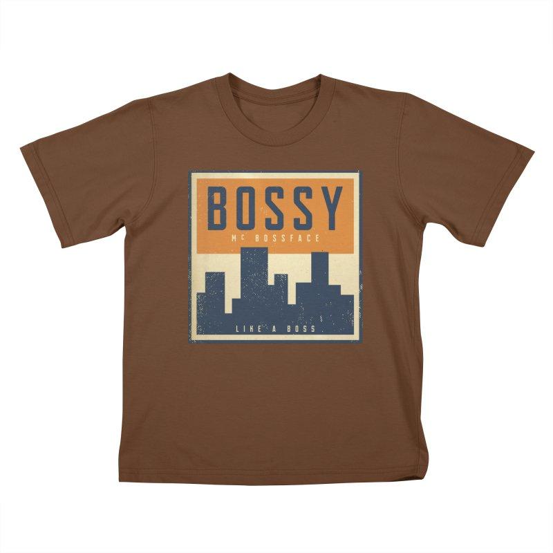 Bossy McBossface - City Boss Kids T-Shirt by The Artist Shop of Ben Stevens