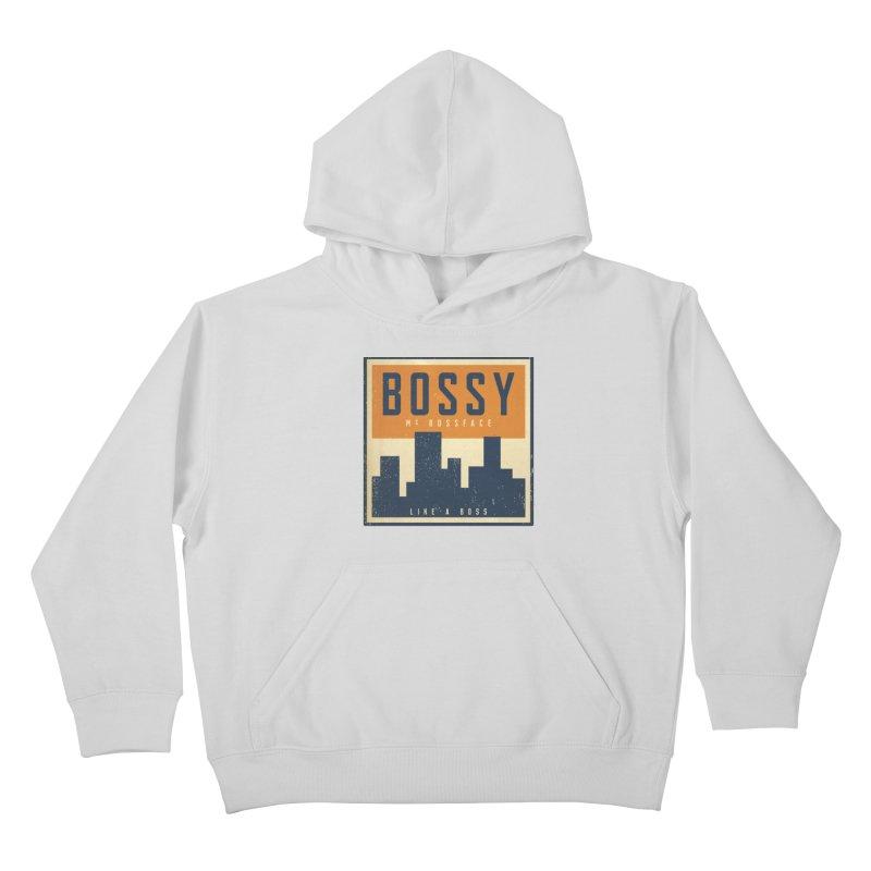 Bossy McBossface - City Boss Kids Pullover Hoody by The Artist Shop of Ben Stevens