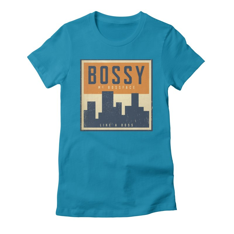 Bossy McBossface - City Boss Women's Fitted T-Shirt by The Artist Shop of Ben Stevens
