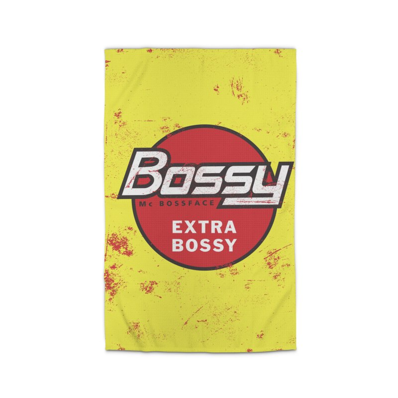 Bossy McBossface - Extra Bossy Home Rug by The Artist Shop of Ben Stevens