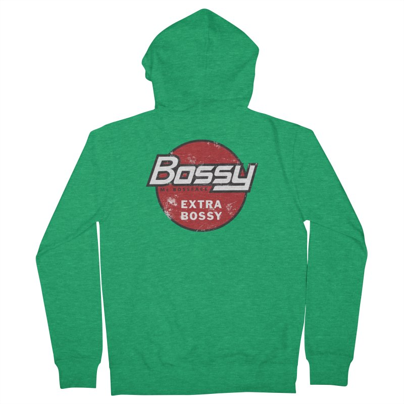 Bossy McBossface - Extra Bossy Men's Zip-Up Hoody by The Artist Shop of Ben Stevens