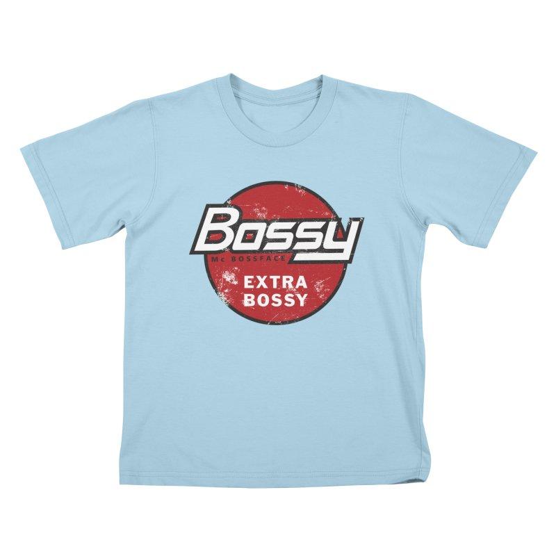 Bossy McBossface - Extra Bossy Kids T-Shirt by The Artist Shop of Ben Stevens