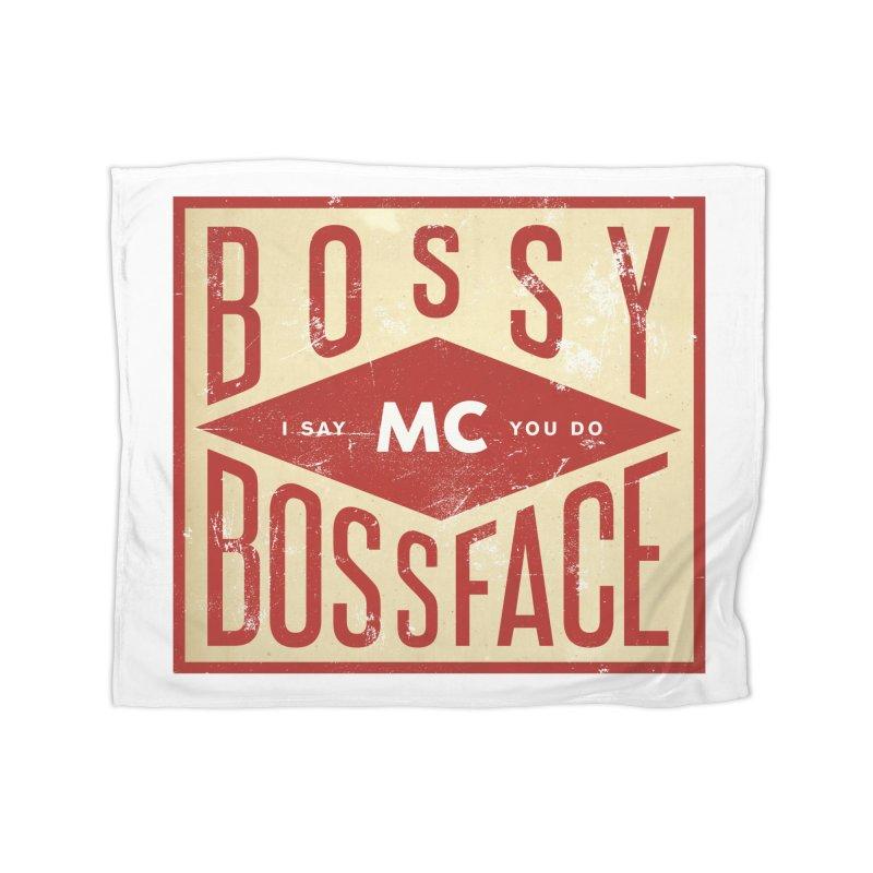 Bossy McBossface - Industrial Boss Home Blanket by The Artist Shop of Ben Stevens
