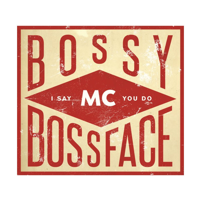 Bossy McBossface - Industrial Boss Home Throw Pillow by The Artist Shop of Ben Stevens