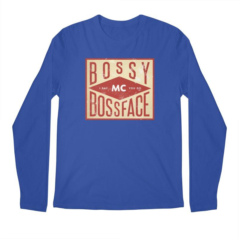 Bossy McBossface - Industrial Boss Men's Regular Longsleeve T-Shirt by The Artist Shop of Ben Stevens
