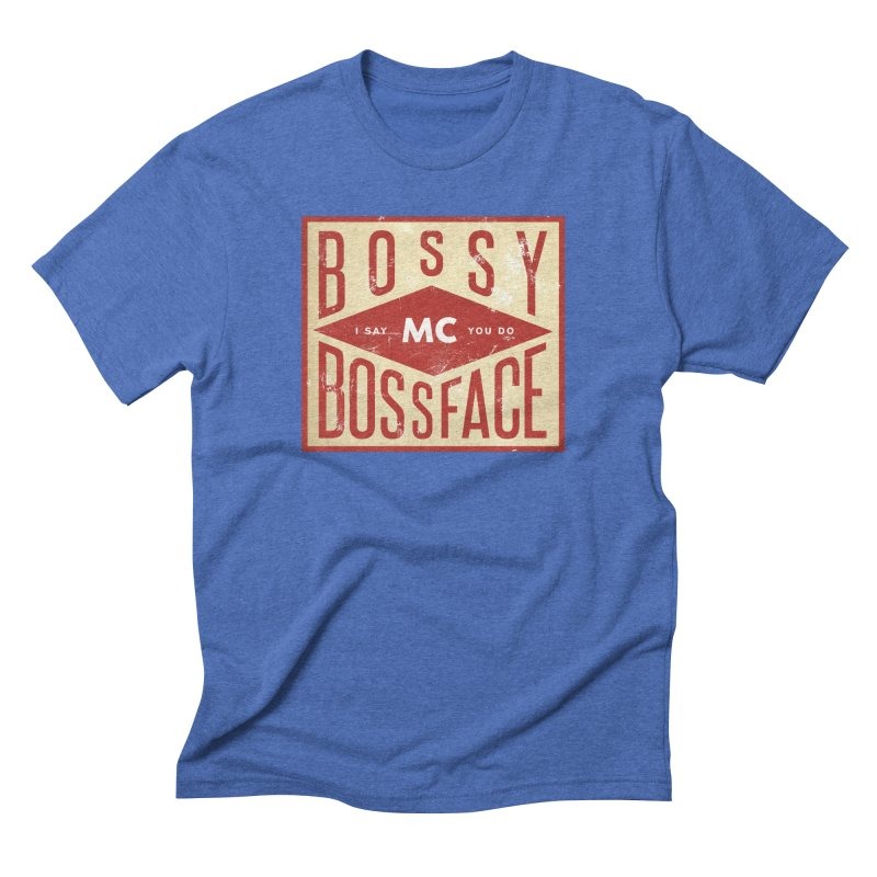 Bossy McBossface - Industrial Boss Men's T-Shirt by The Artist Shop of Ben Stevens