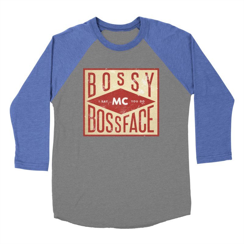 Bossy McBossface - Industrial Boss Women's Baseball Triblend Longsleeve T-Shirt by The Artist Shop of Ben Stevens