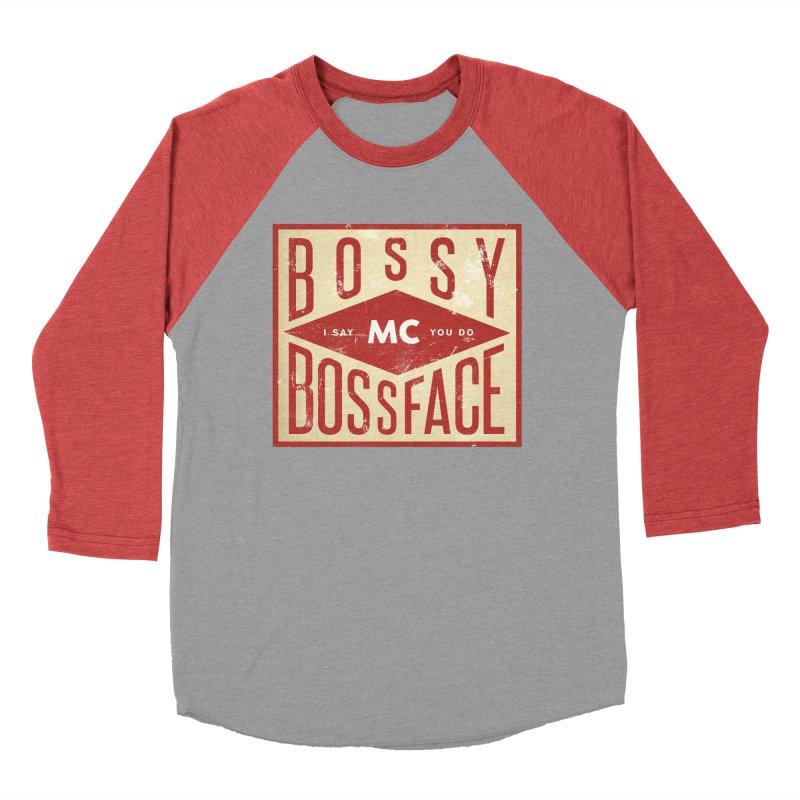 Bossy McBossface - Industrial Boss Men's Baseball Triblend T-Shirt by The Artist Shop of Ben Stevens