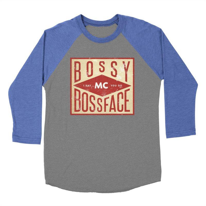 Bossy McBossface - Industrial Boss Men's Baseball Triblend Longsleeve T-Shirt by The Artist Shop of Ben Stevens
