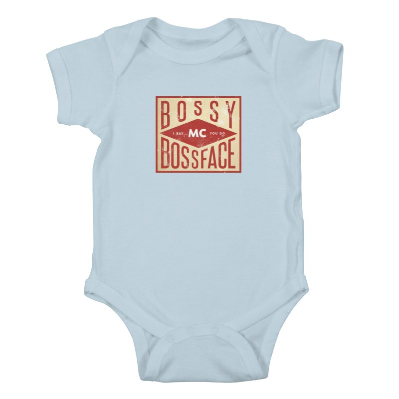 Bossy McBossface - Industrial Boss Kids Baby Bodysuit by The Artist Shop of Ben Stevens