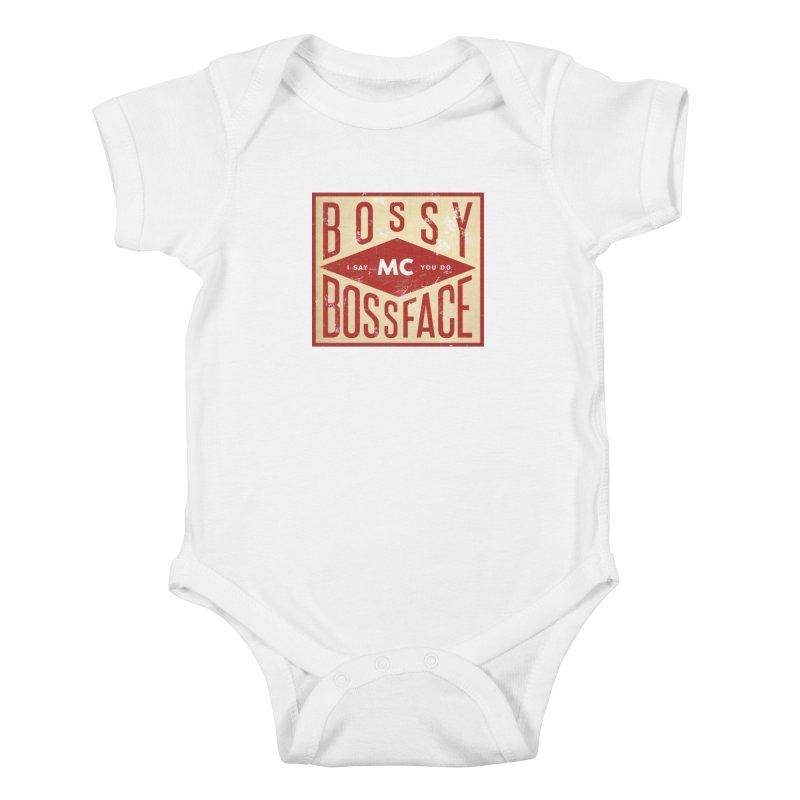 Bossy McBossface - Industrial Boss Kids Baby Bodysuit by The Artist Shop of Ben Stevens