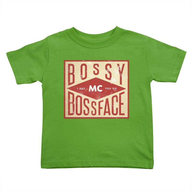 Bossy McBossface - Industrial Boss Kids Toddler T-Shirt by The Artist Shop of Ben Stevens