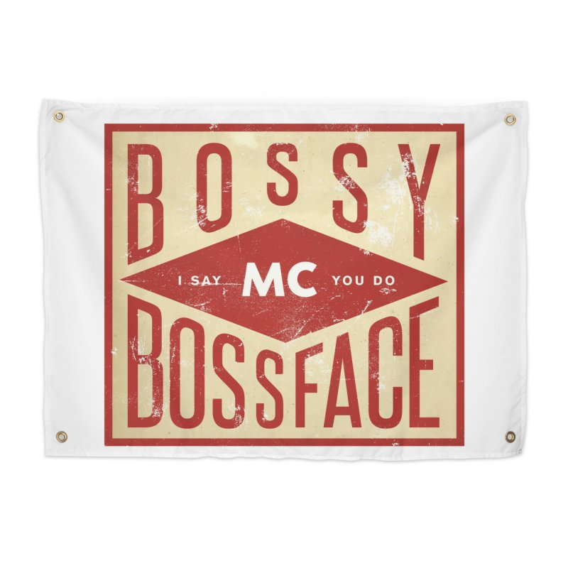 Bossy McBossface - Industrial Boss Home Tapestry by The Artist Shop of Ben Stevens