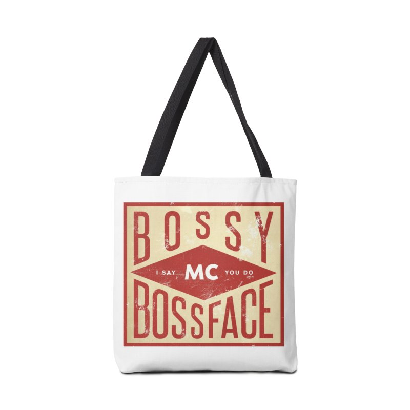 Bossy McBossface - Industrial Boss Accessories Tote Bag Bag by The Artist Shop of Ben Stevens