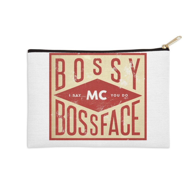 Bossy McBossface - Industrial Boss Accessories Zip Pouch by The Artist Shop of Ben Stevens