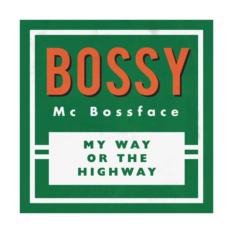 Bossy McBossface - Rural Boss Men's Longsleeve T-Shirt by The Artist Shop of Ben Stevens