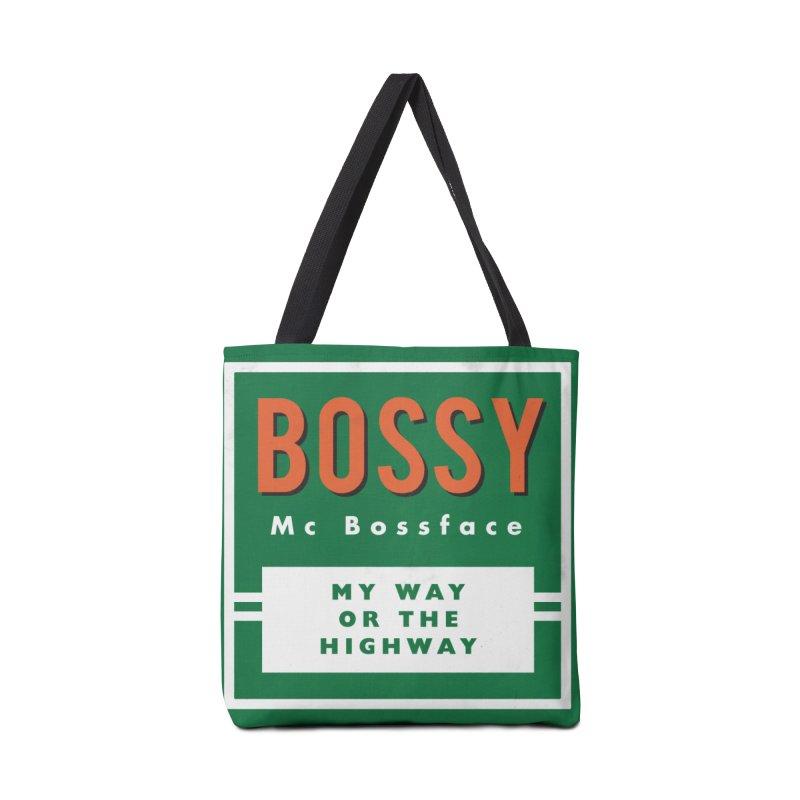 Bossy McBossface - Rural Boss Accessories Bag by The Artist Shop of Ben Stevens