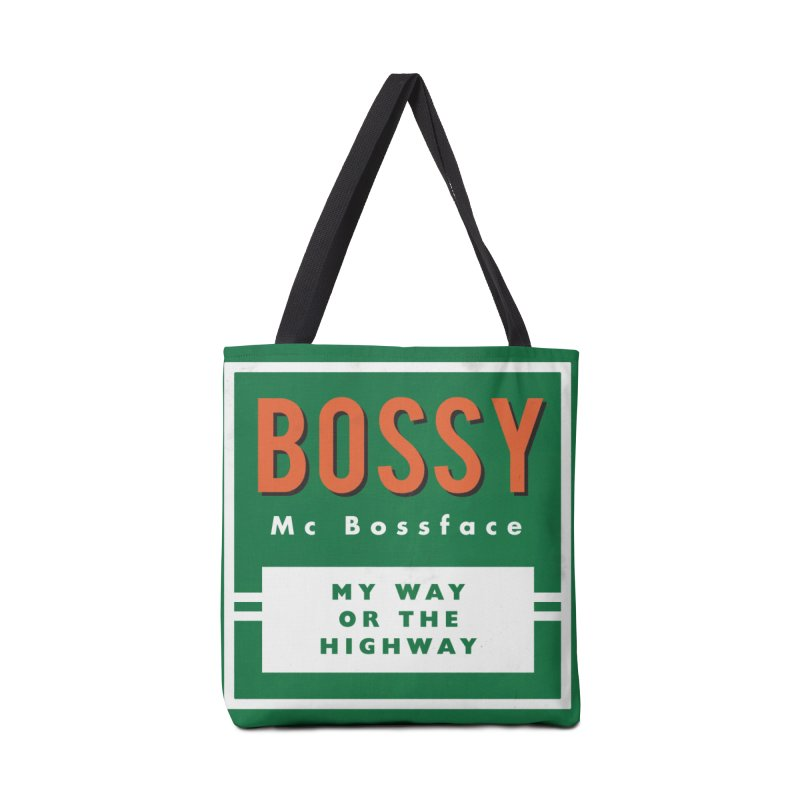 Bossy McBossface - Rural Boss Accessories Tote Bag Bag by The Artist Shop of Ben Stevens