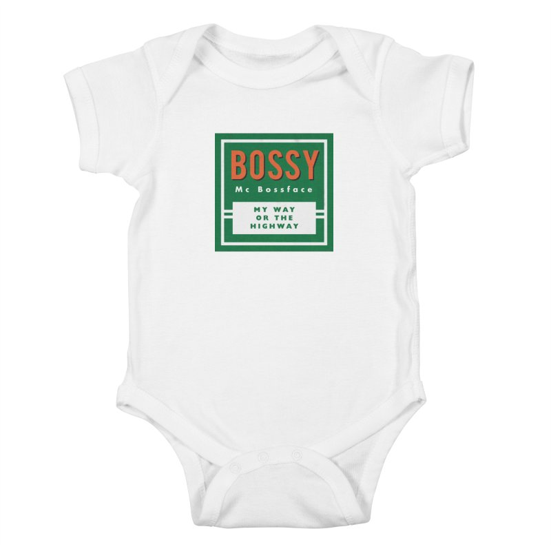 Bossy McBossface - Rural Boss Kids Baby Bodysuit by The Artist Shop of Ben Stevens