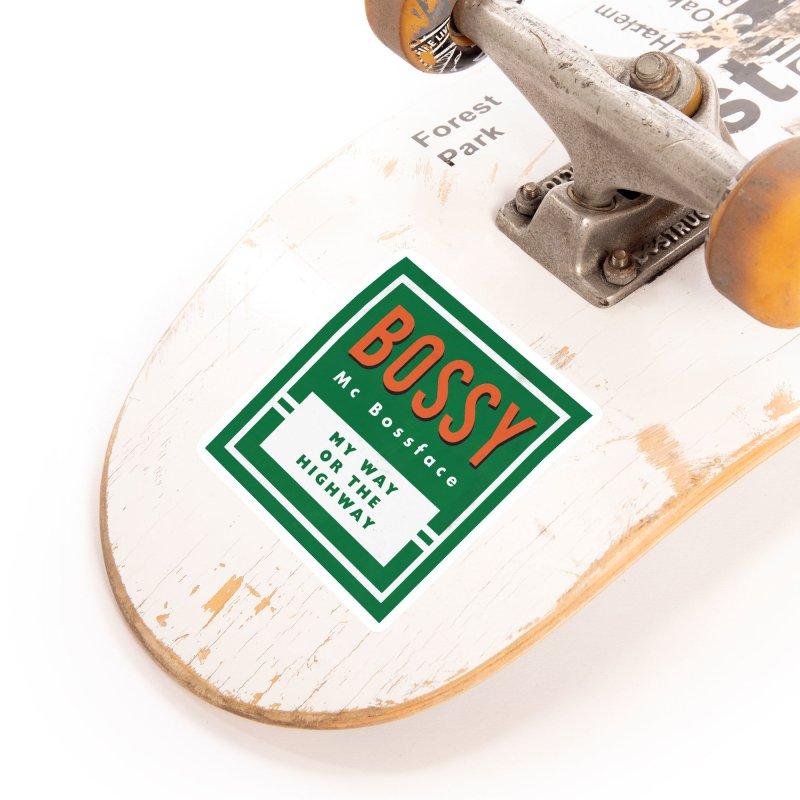 Bossy McBossface - Rural Boss Accessories Sticker by The Artist Shop of Ben Stevens