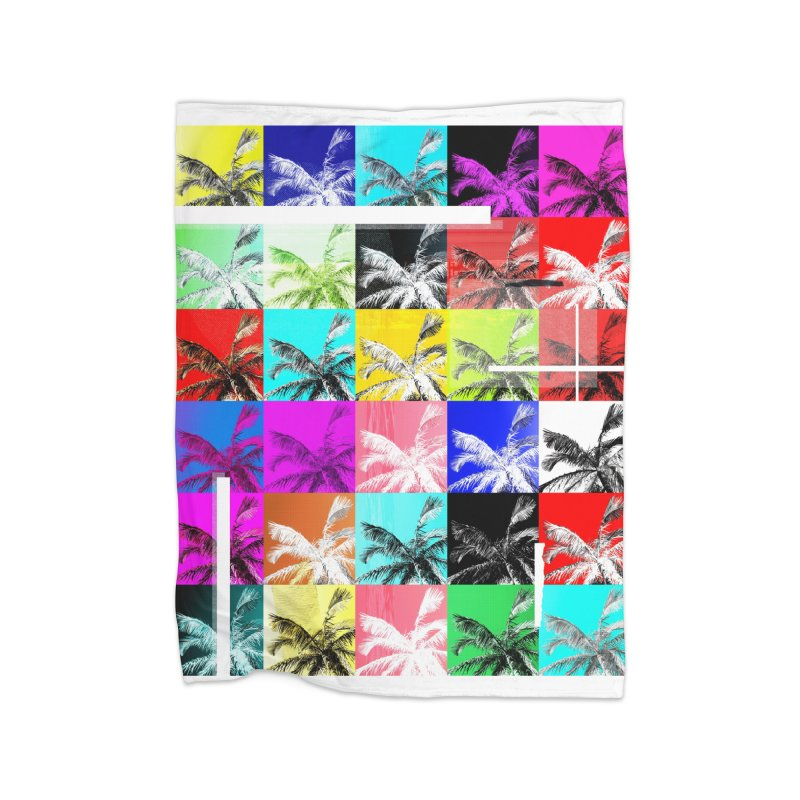 All the Palms Home Blanket by The Artist Shop of Ben Stevens