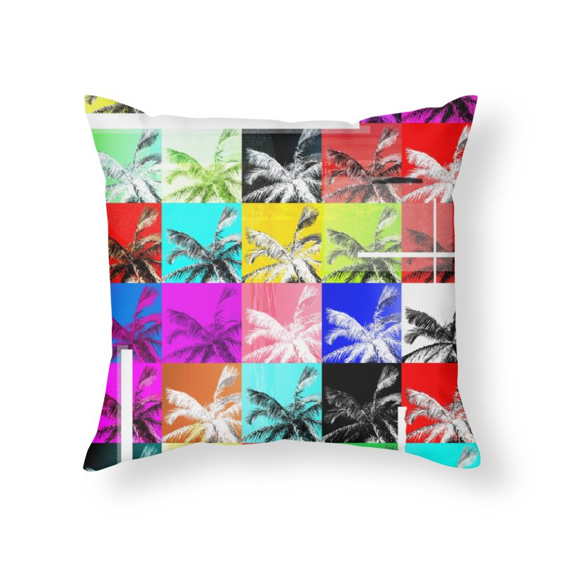 All the Palms Home Throw Pillow by The Artist Shop of Ben Stevens