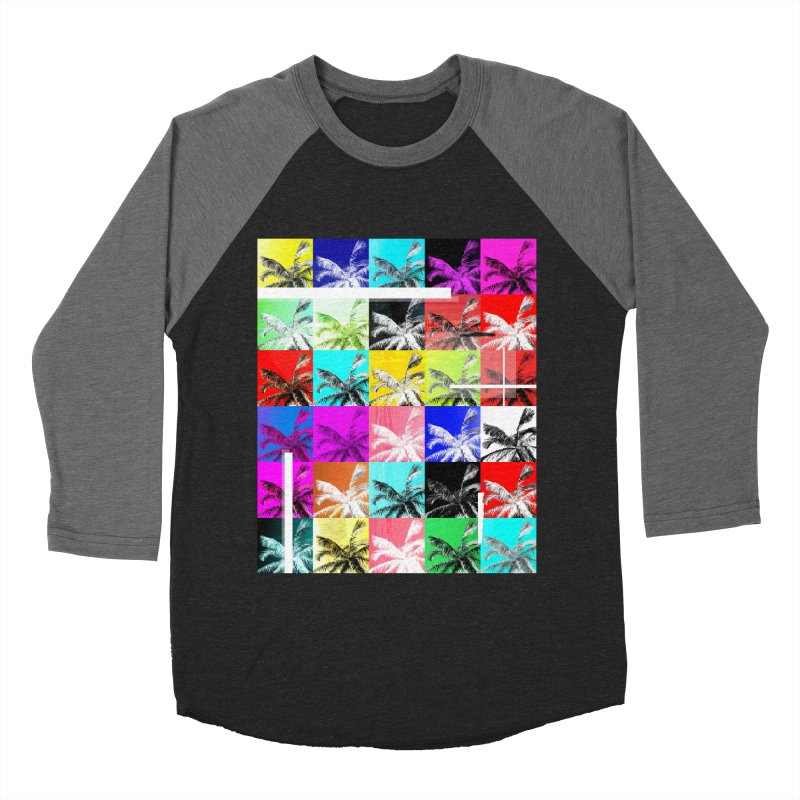 All the Palms Men's Baseball Triblend T-Shirt by The Artist Shop of Ben Stevens
