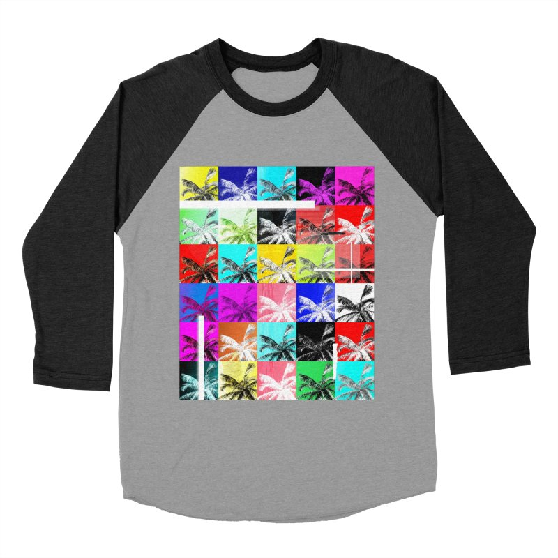 All the Palms Men's Baseball Triblend Longsleeve T-Shirt by The Artist Shop of Ben Stevens