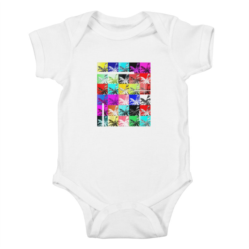 All the Palms Kids Baby Bodysuit by The Artist Shop of Ben Stevens