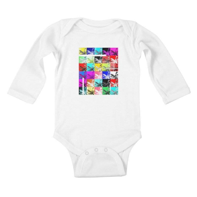 All the Palms Kids Baby Longsleeve Bodysuit by The Artist Shop of Ben Stevens